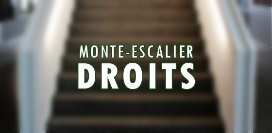 Comparateur de monte escaliers droits