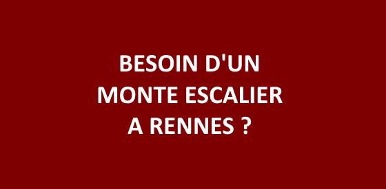 Article sur les monte escalier à Rennes
